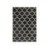 Tapis Shaggy style berbère, 160x230 cm-Verso Couleur Noir
