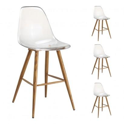 Chair DESIGN Metal Scandinave BLUE GRAY 45x55xH85cm
