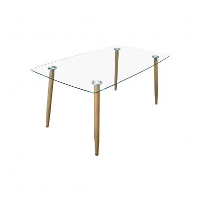 STOCKHOLM Table Basse 110x60xH43cm VERRE Trempé Transparent