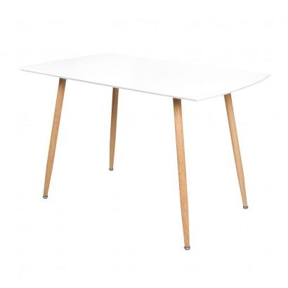 STOCKHOLM table salle à manger l120xl70xh75cm BLANC