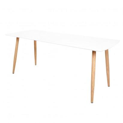 STOCKHOLM Table Extensible 140/180x80xH75cm BLANC