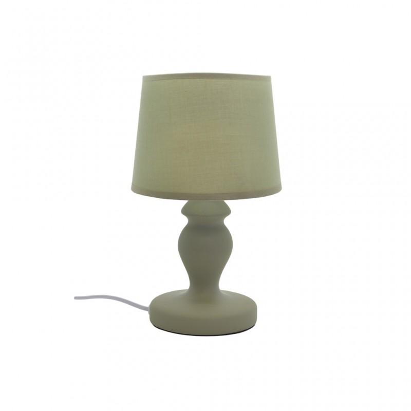 Lampe À Poser Céramique Mat 4 Couleurs D15xH30cm VERT
