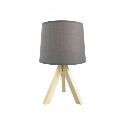 Lampe Scandi En Bois 23x23xH37cm GRIS