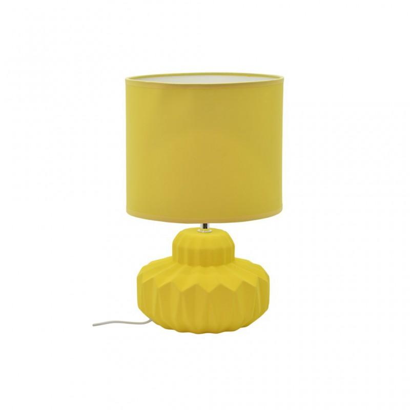 Lampe À Poser Céramique Mat 4 Couleurs D21xH33,5cm JAUNE