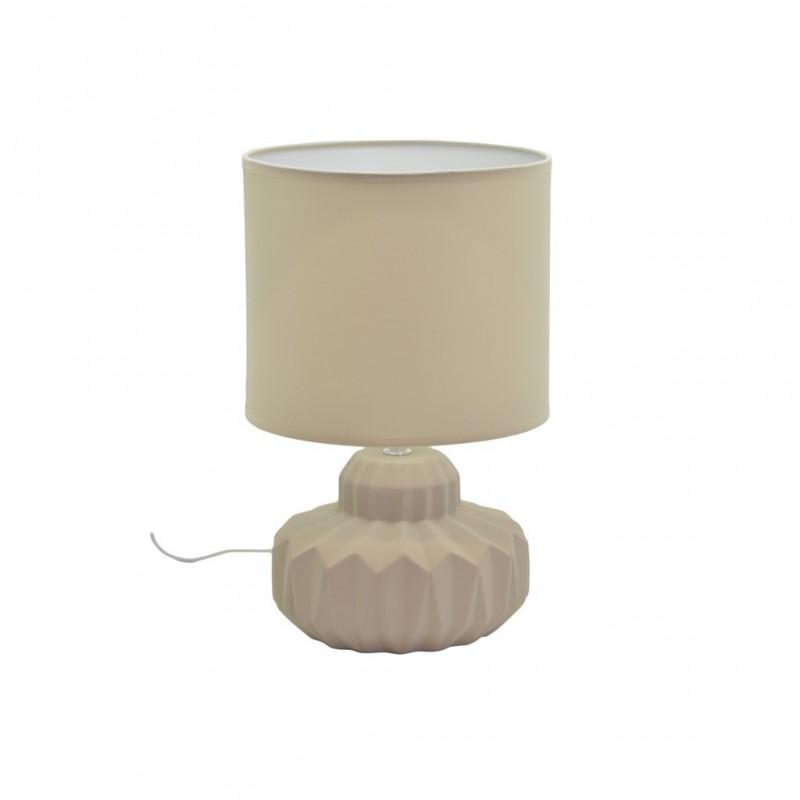 Lampe À Poser Céramique Mat 4 Couleurs D21xH33,5cm TAUPE