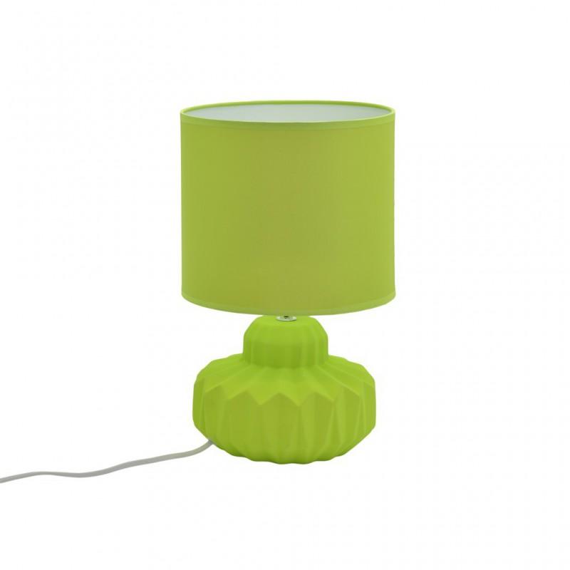 Lampe À Poser Céramique Mat 4 Couleurs D21xH33,5cm VERT