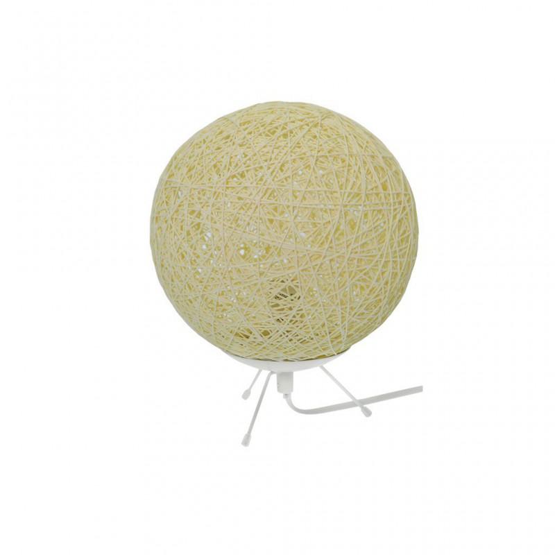 Lampe À Poser D20cm Boule RAFIA 3 Couleurs BEIGE