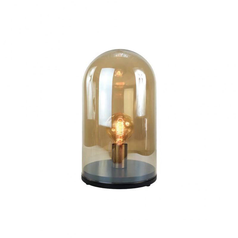 Lampe À Poser Cloche En Verre + Ampoule 12x12xH25cm