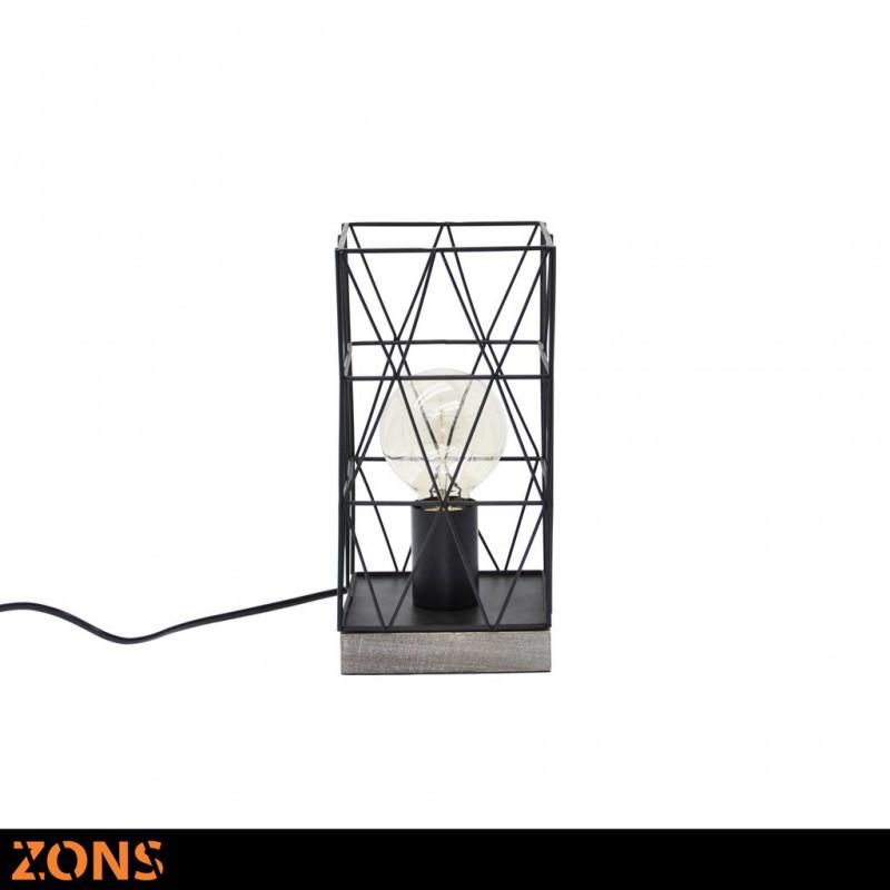 Métal Noir Lampe Edison 3 AssortisAmpoule À Poser Couleurs H27cm TJ3FKlc1