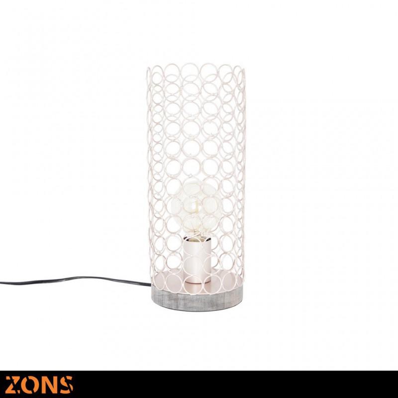 Lampe À Poser En Métal 14,5xH35cm 4 Couleurs Assorties + Ampoule EDISON BEIGE