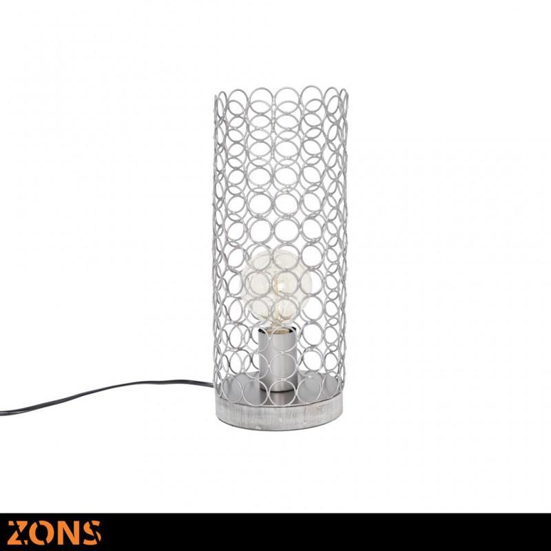 Lampe À Poser En Métal 14,5xH35cm 4 Couleurs Assorties + Ampoule EDISON GRIS