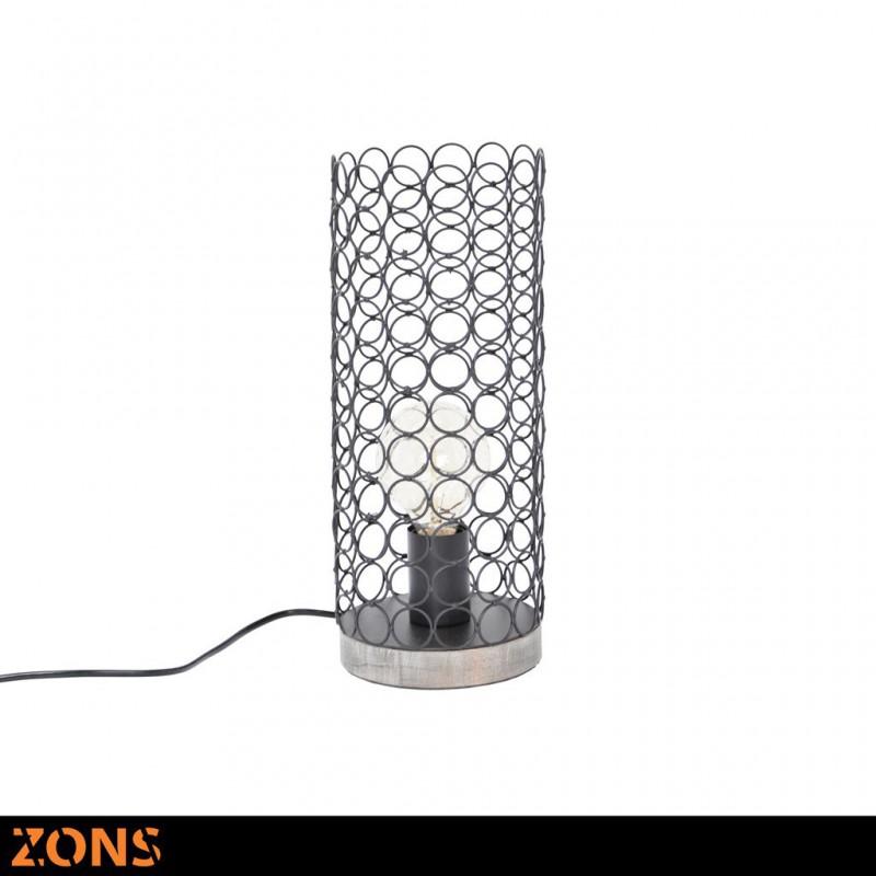 Lampe À Poser En Métal 14,5xH35cm 4 Couleurs Assorties + Ampoule EDISON NOIR