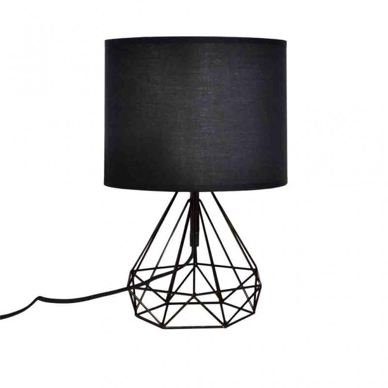 Lampe À Poser Filaire Géométrique 25xH44cm NOIR