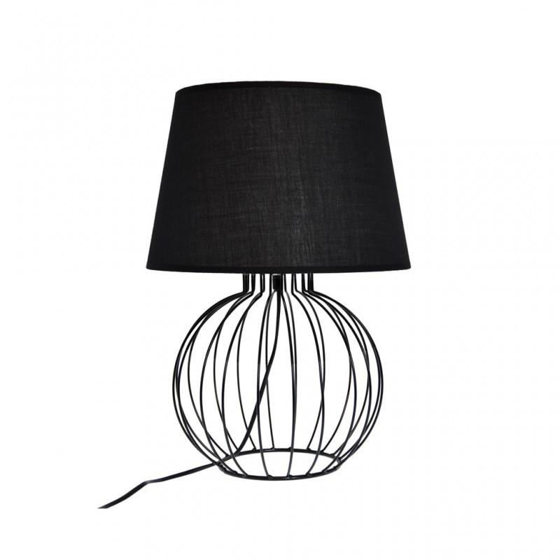 Lampe À Poser Filaire Géométrique Ø15xH44.5cm NOIR