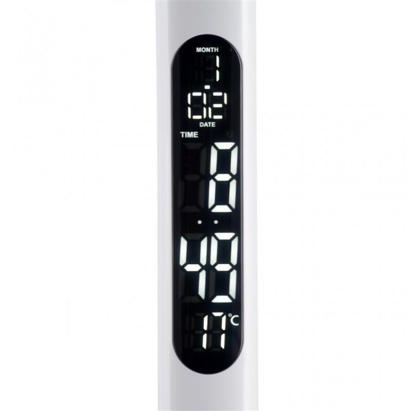 Lampe D20x51cm LED Touche + Réveil + Thermomètre
