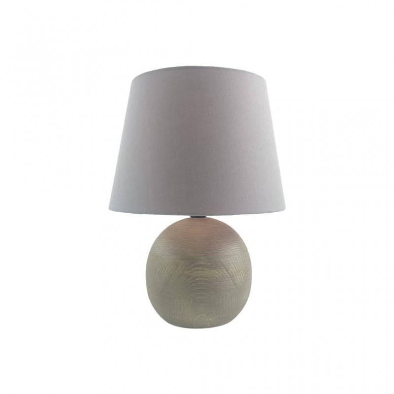 Lampe En Bois 23x23xH30cm GRIS