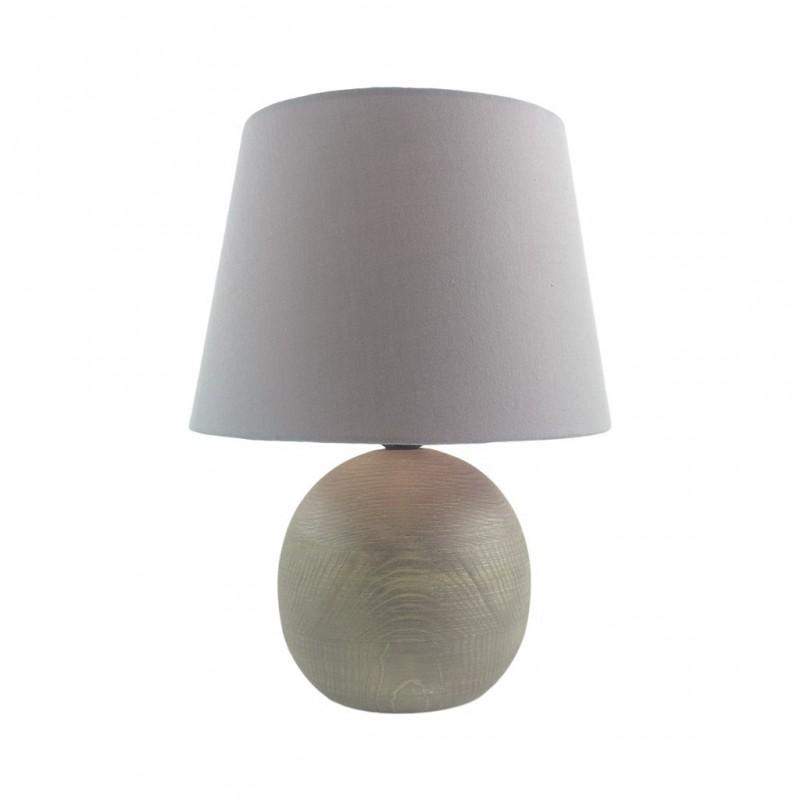 Lampe En Bois 30x30xH40cm GRIS