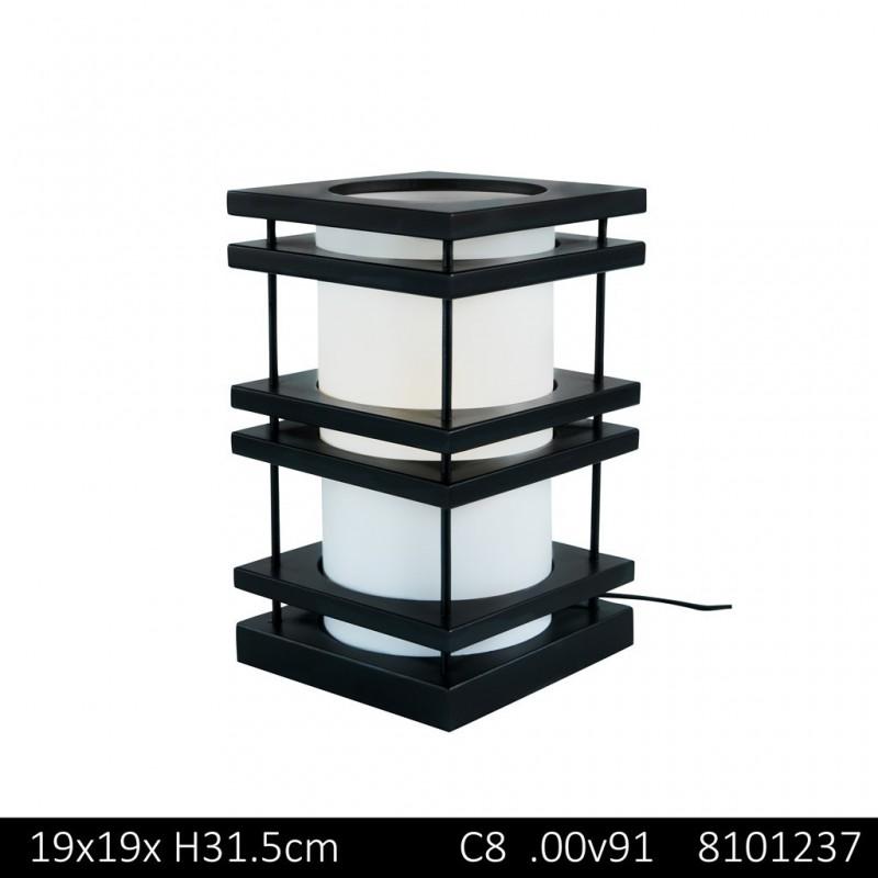 TOKYO Lampe À Poser 19x19xH31,5cm - 2 Couleurs Assorties NOIR