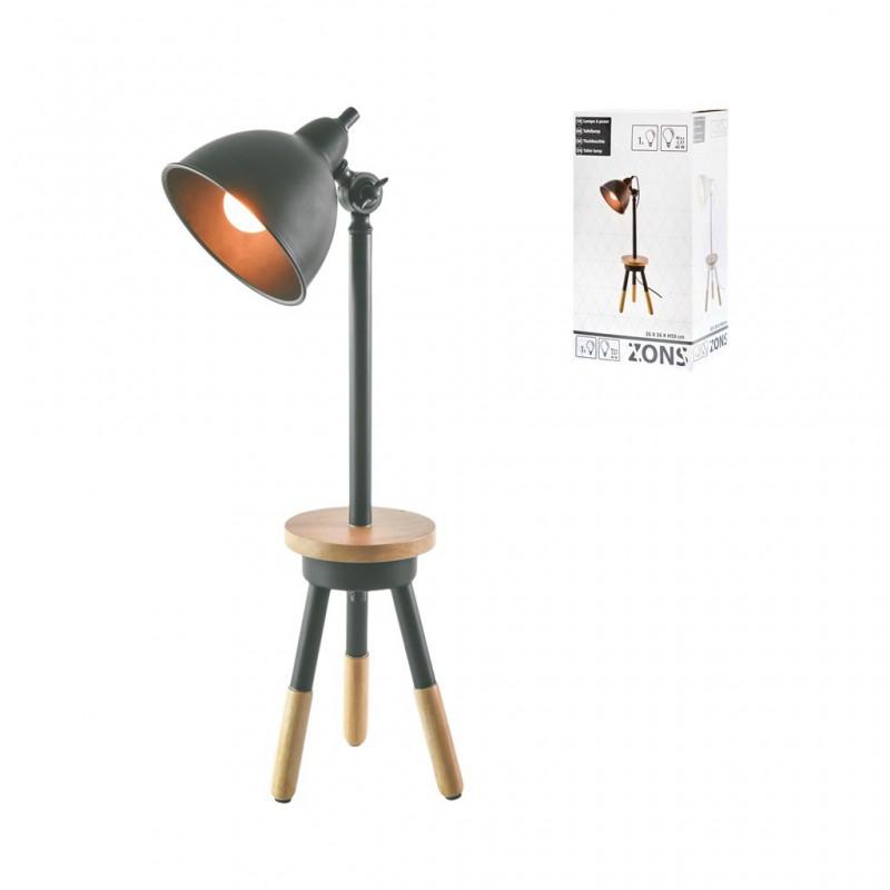 Lampe À Poser 16x26xH59cm GRIS