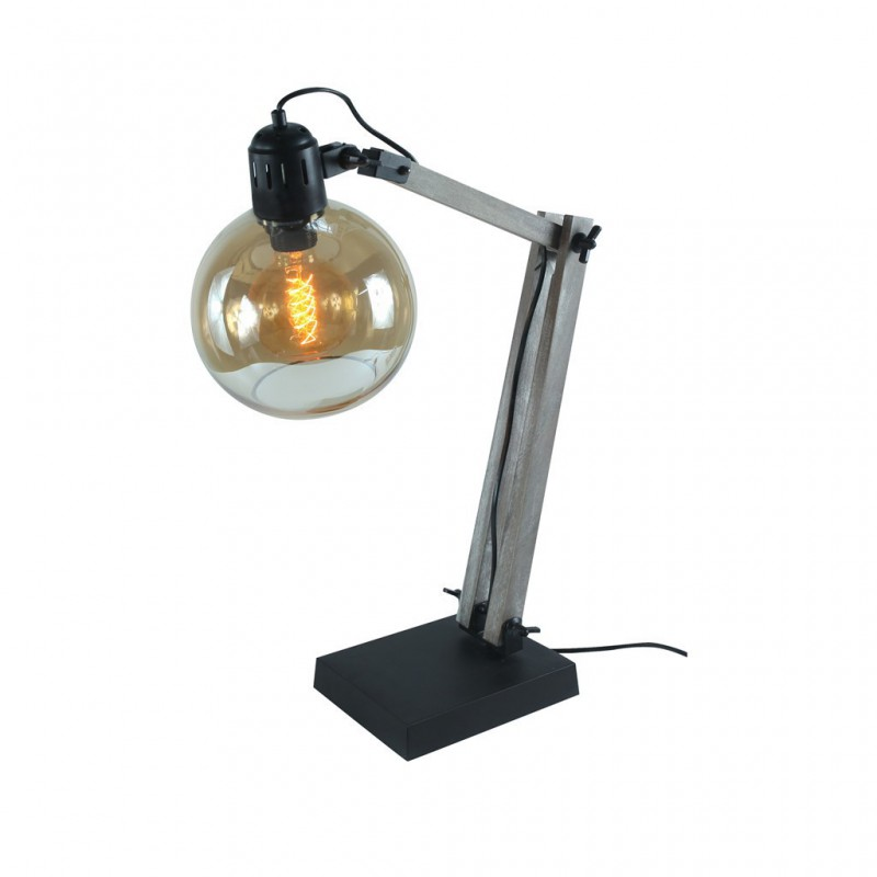Lampe À Poser INDUSTRY + Ampoule EDISON NOIR