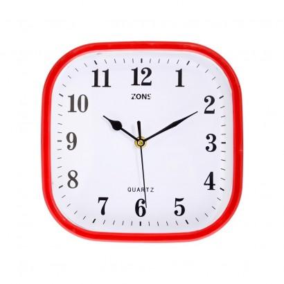 Horloge Murale 22.5*22.5cm 4 Couleurs ROUGE