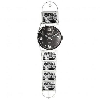 Horloge Murale Style Montre H100cm 2 couleurs BLANC