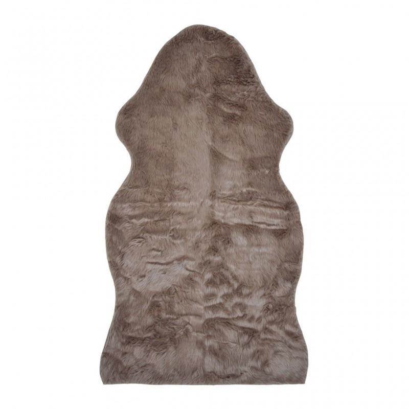 Tapis de sol fausse fourrure 70x125cm MARRON