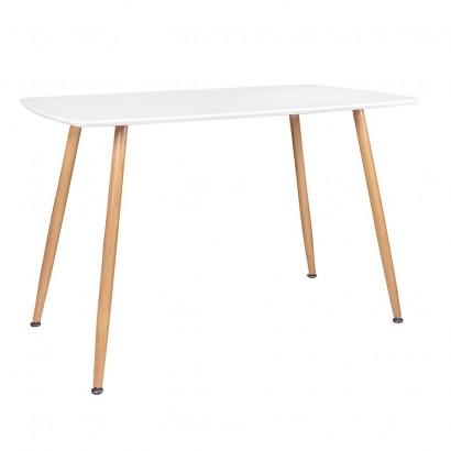 Table Salle À Manger STOCKHOLM L120xL70xH75cm BLANC