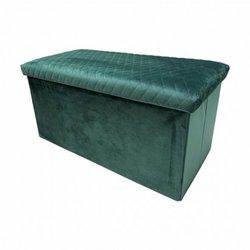 Velvet folding trunk bench...