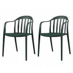 Set van 2 stapelstoelen...