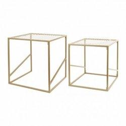 Set van 2  metalen nesttafels