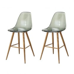 Set of 2 TRACY tabourets...