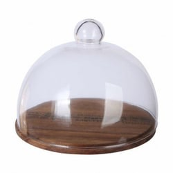Bell with bamboo tray