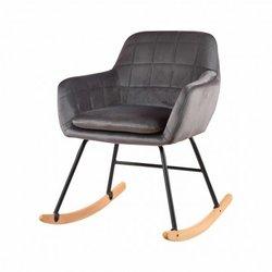 Velvet upholstered rocking...