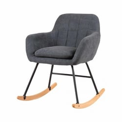 Chaise a bascule capitonnée