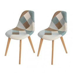 Set of 2 ORAZ patchwork chairs