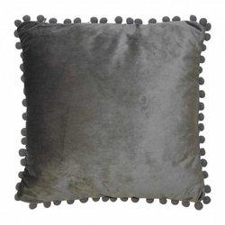 Velvet Cushion pompoms...