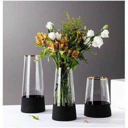 Vase GHANIMA in glass H19 cm