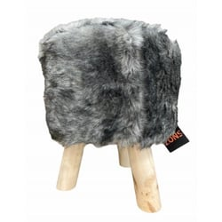 Stool fur skin beast h34cm