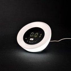 Lampe Réveil LED Avec Projecteur Multi Couleurs Ø16.5xH13cm
