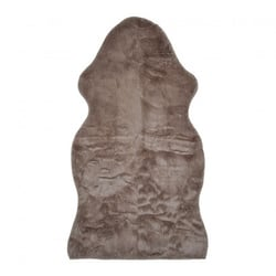 tapis de sol fausse fourrure 70x125cm blanc