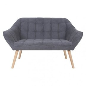 Suede 2-seater sofa bed