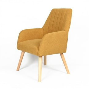 Chair with fabric armrest -...