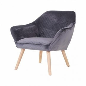Velvet armchair - MAKRO