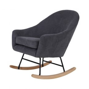 Suede rocking chair
