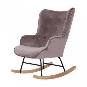 Velvet rocking chair Mama -...