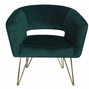 Velvet Armchair MAZIO - Green