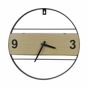 Horloge ronde en bois/ et...