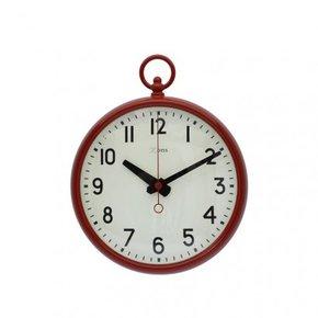 Horloge métal ROUGE