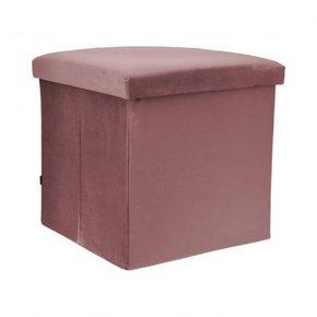 Velvet folding footstool...